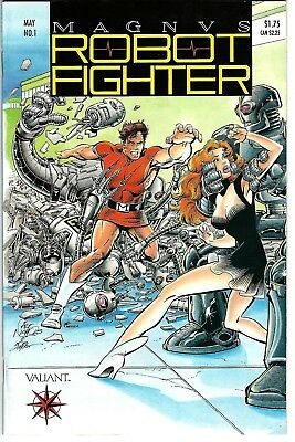 Magnus Robot Fighter #1 (1991) FN/VF  Shooter - Nichols  w/Coupon & Cards