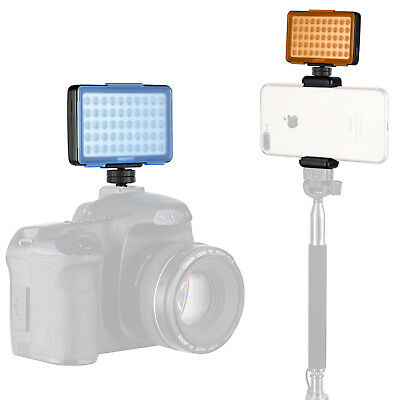 Neewer Dimmable Mini LED Video Light w/ Filter Diffusers for Micro Camera iPhone