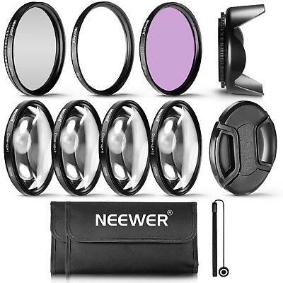Neewer 49MM Professional UV CPL FLD Lens Filter and Close-Up Kit