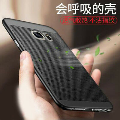 360° Protective Slim Matte Hollow Mesh Shell Hard PC Back Cover Case For Samsung