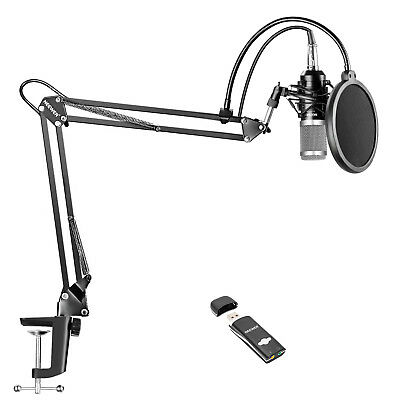 Neewer Pro Studio Condenser Microphone Kit with Arm Stand and Shock Mount