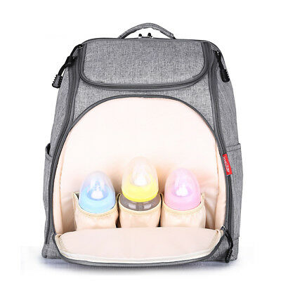 Baby Diaper Nappy Bag Backpack for Mom and Dad Organizer Pouch & Changing Pad hp