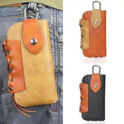Vintage knit Leather Belt Clip Case Holster Pouch Case Cover for iPhone 7 Plus 6