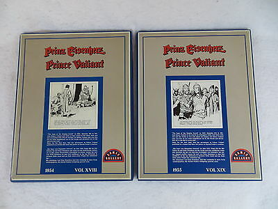 Harold Foster PRINCE VALIANT Comic Gallery 1954 & 1955 Boxed Ring Binder Pages