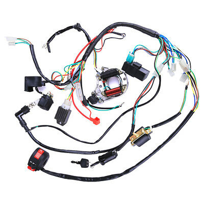 COMPLETE ELECTRICS WIRING Harness Loom Stator For ATV QUAD 50 70 90 on