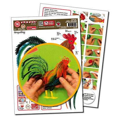 Quilling Template Hahn/ Rooster Art Quilling (ohne Pappe)