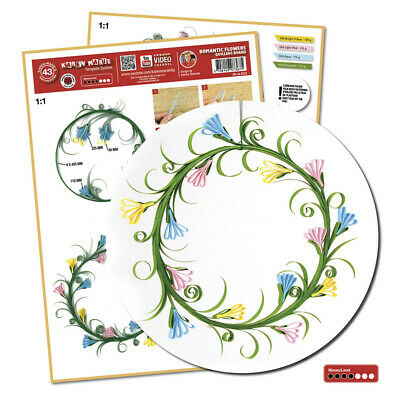 Quilling Template Romantic flowers