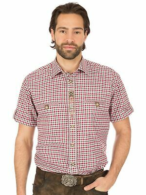 Os-Trachten Traditional Shirt Sticklegende Roll-Up Sleeves 321002-3581 Red