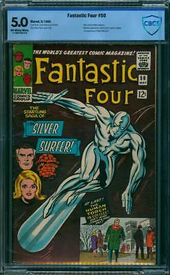 Fantastic Four # 50 The Sage of the Silver Surfer !  CBCS 5.0 scarce book !