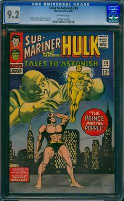 Tales to Astonish # 78  The Prince and the Puppet !  CGC 9.2  scarce book !