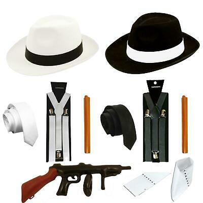 GANGSTER FANCY DRESS COSTUME ACCESSORY GATSBY 20s 1920s MAFIA
