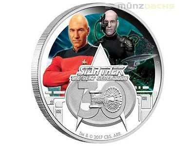 1$ Dollar 30 Ans Star Trek The Next Generation Tuvalu 1 Once Pp Argent 2017