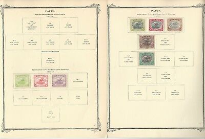 Papua New Guinea Collection 1907-1952 on 3 Scott Specialty Pages