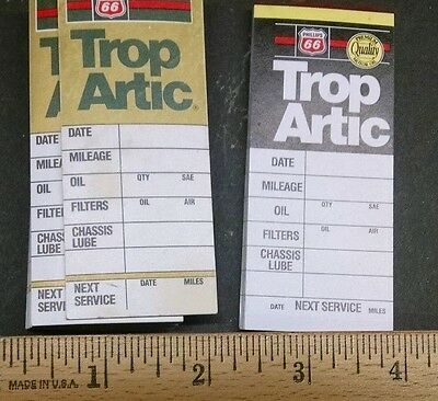 44 New Old Stock Unused 60's ? Phillips 66 Trop Artic Oil Change Stickers Sticky