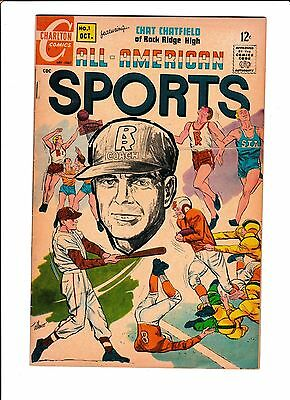 "All-American Sports #1  [1967 Vg+]  ""a Life & Death Decision"""