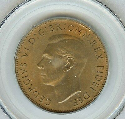 Great Britain 1951 Penny  Pcgs Ms65 Red Brown