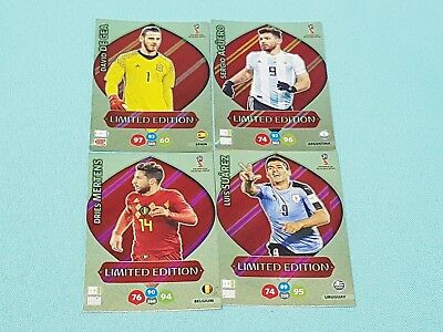 Panini Adrenalyn WM World Cup Russia 2018 Set 4 - 4 x Limited Edition Karten