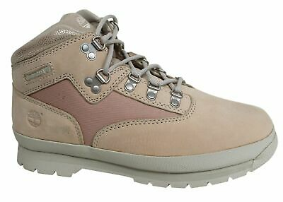 Timberland Euro Hiker Lace Up Peach Nubuck Leather Junior Boots A1A29 B11A