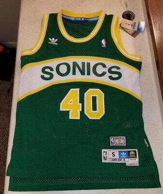 c764995fe Shawn Kemp Seattle Supersonics Adidas NBA Throwback Swingman Jersey Small