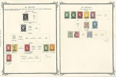St Helena Collection 1856 to 1940 on 9 Scott Specialty Pages, Classic Stamps