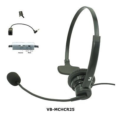 Allworx Phone headset, Noise Canceling Rotatable Microphone, Volume & Mute, New