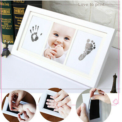 Baby Hand&Foot INKLESS Print Cast Kit&2 Photo Picture Frame Christening Gift UK