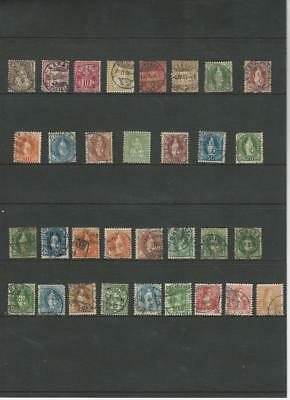 Switzerland Collection of Early Stamps on Stock Sheet, Unchecked, Cancels