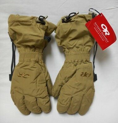 Outdoor Research Firebrand Gloves W/ Liners, Goretex, Coyote, Medium, Nwt