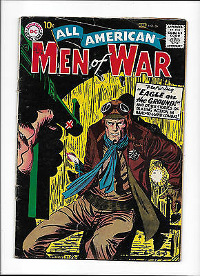 "All American Men Of War  #56  [1958 Vg-Fn]  ""eagle On The Ground!"""