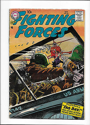 """Our Fighting Forces #26  [1957 Vg+]  """"tag Day!"""""""
