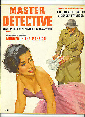 Master Detective Magazine Oct 1956 True Crime Mag  TWO SKELETONS IN THE SWAMP