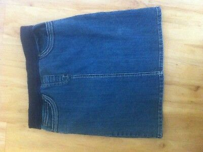 Ladies EXPRESSION Denim Maternity Skirt Size 10 Knee Length