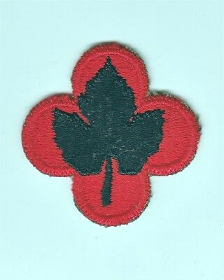 Army Patch: 43rd Infantry Division - cut edge, WWII era