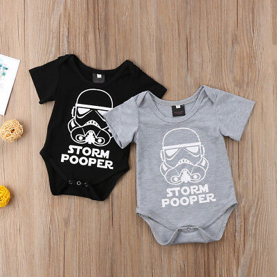 Cute Star Wars Newborn Baby Boy Romper Summer Babygrows Playsuit Clothes Outfit