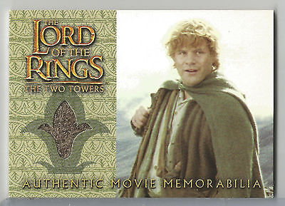 Sam's Travel Jacket Topps Lord of the Rings The Two Towers LOTR Costume Card