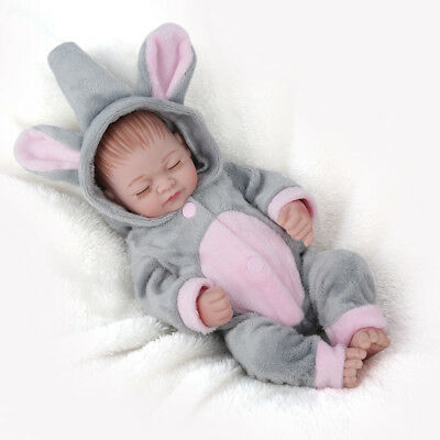 Full Body Soft Reborn Baby Dolls Vinyl Silicone Realistic Newborn Girl Doll Gift