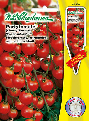 partytomate Sweet Million; F1, Seed, solanum lycopersicum, Vegetables,
