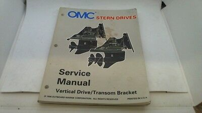 Service Manual Vertical Drive Transom Bracket Omc Stern Drives 1996