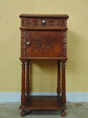 Bedside cabinet in Walnut   C1890
