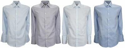 Ex Store Mens Cotton Non Iron Extra Slim Fit Double Cuff Shirt