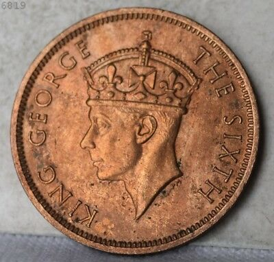 "1948 Seychelles 5 Cent ""CHOICE BU RED BROWN"" *Free S/H After 1st Item*"