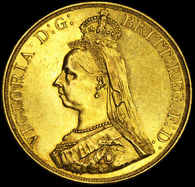 Stunning Queen Victoria 1887 £5 Gold Sovereign......