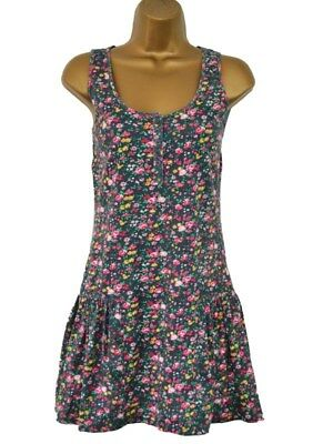 Teenagers/Ladies Multi Floral Summer / Holiday Beach Cover-Up Dress  UK  6.