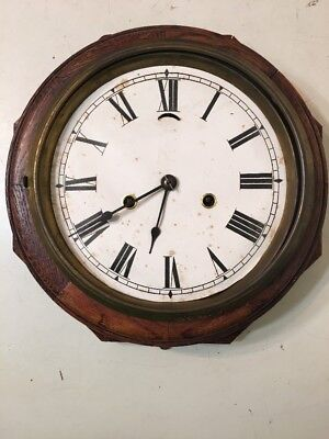 Antique New Haven Lever Action Marine Octagon Wall Clock