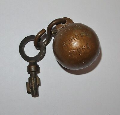Vintage HOTEL EUROPE Tours France Brass Ball Hotel Key, Room 26, Neat History