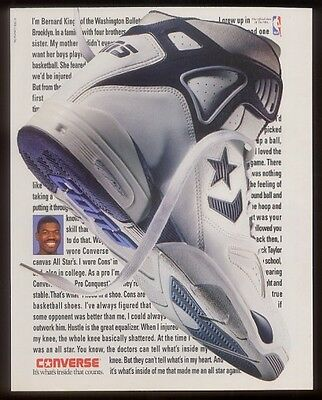 1991 Converse All Star shoes Bernard King photo ad