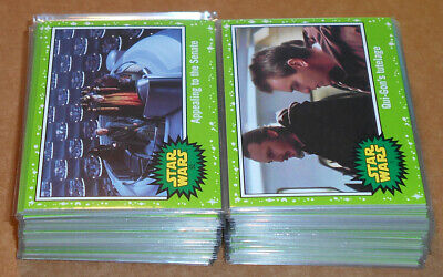 Star Wars Journey to the Last Jedi ~ GREEN PARALLEL BASE CARD LOT (57) no dupes