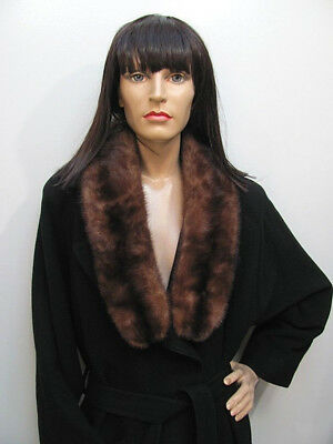 VINTAGE 1960s ULTRA-LUXE Ranch MINK FUR Clip-On BOA SCARF Excnt Cond $29 BUY-NOW