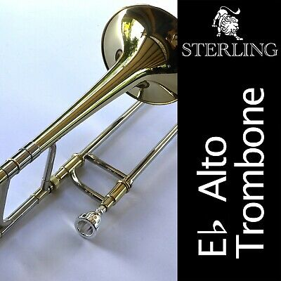 Blue Sterling Eb ALTO TROMBONE • High Quality • Brand New • With Case •