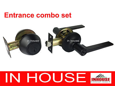 Door handles,lock Passage,Privacy,Entrance with Deadbolt,Dummy, Matt Black finis